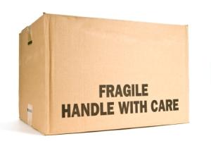 Caixa frágil