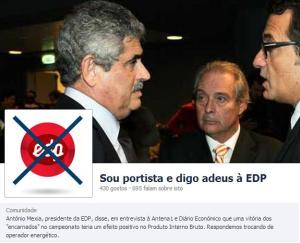 Página do Facebook contra EDP