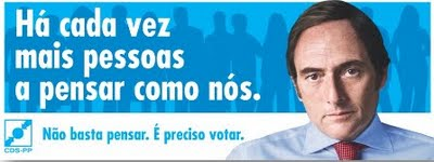 Cartaz de Campanha Eleitoral Paulo Portas CDS/PP