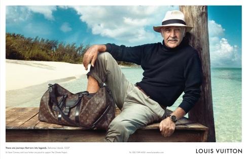 Sean Connery em campanha pela Louis Vuitton