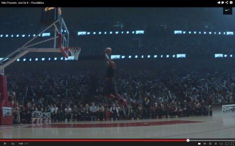 LeBrown em video Nike